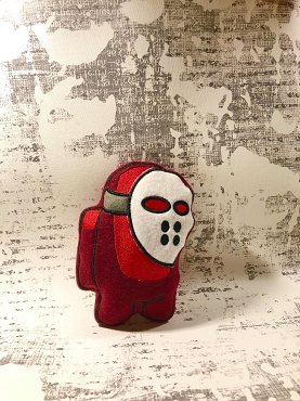 Jason Mask Crewmate Stuffie Embroidery Design (5x7)